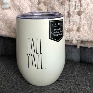 """NWT {Rae Dunn} """" Fall Ya'll """" Wine Tumbler"""